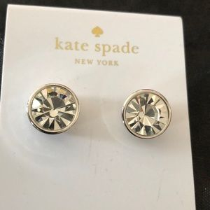 Kate Spade Crystal Clear Studs Silver Post Back